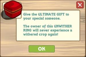 A perma-buff from Farmville. An amazingly desirable item as your crops will never wither again.
